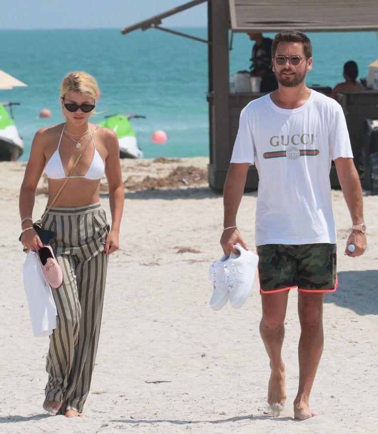 e00e9f13d23 Scott Disick Steps Out In Miami With Sofia Richie Wearing Garrett Leight  Sunglasses