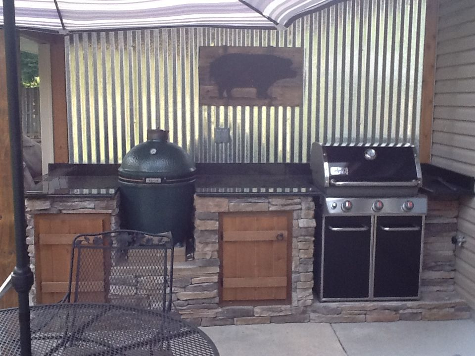 Our Outdoor Cook Shed In 2019 Patio Kitchen Grill