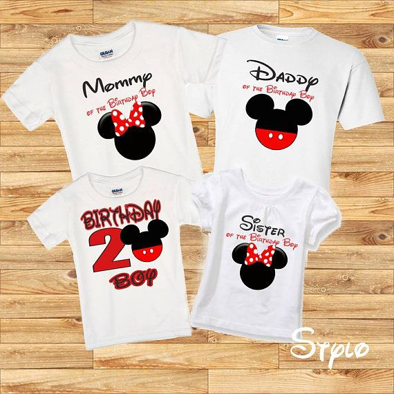 Birthday Boy Mickey Mouse Family Shirts Name And Number Available For Change Please Specify On The Additional Notes To Seller Following