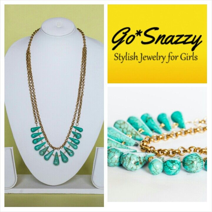 Lovely turquoise drop bead necklace!