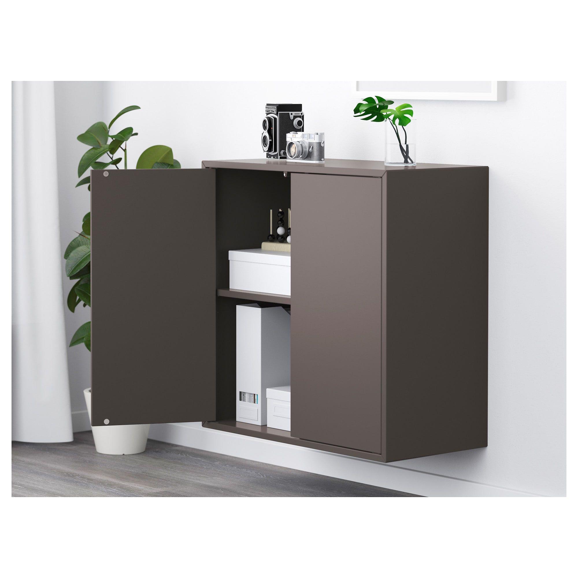 Ikea Eket Cabinet With 2 Doors And Shelf Dark Gray In 2019