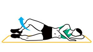 Get a bangin' lower body with clamshells. Click for exercise instructions.