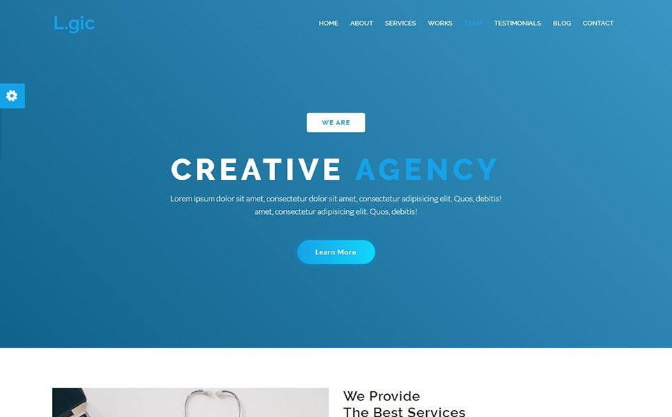 Logic Material Design Agency Website Template Design Material Logic Template Website Agency Website Design Material Design Website Material Design