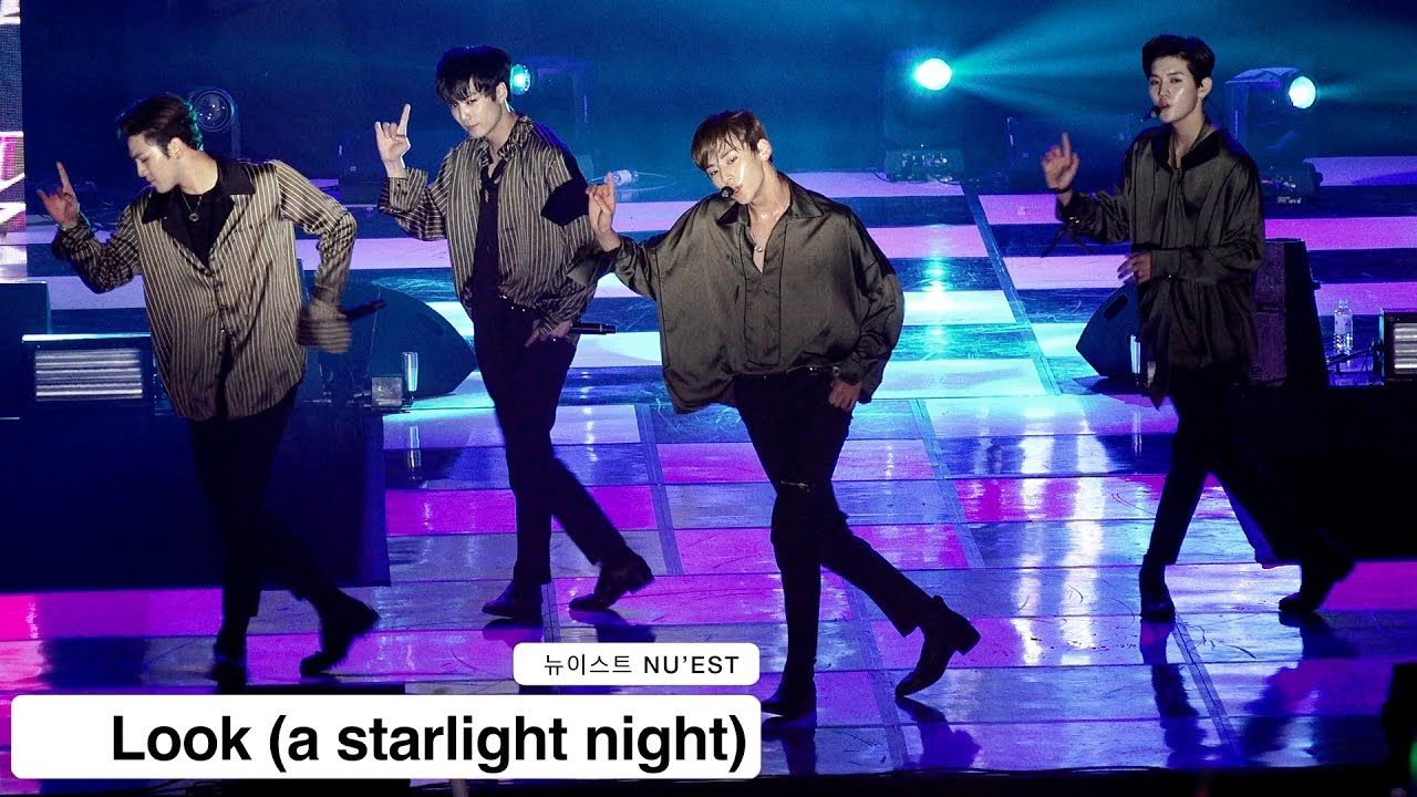 뉴이스트 NU'EST[4K 직캠]Look (a starlight night)@1125 Rock Music
