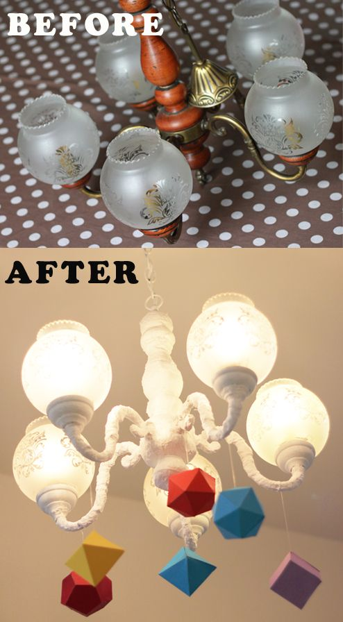 Relooker Un Vieux Lustre Diy Recyclage How To Recycle Ceiling