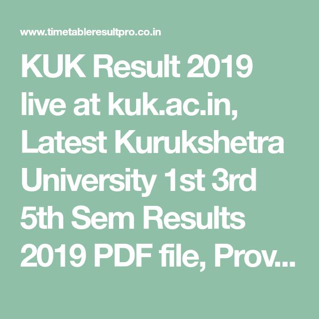 Kuk Results Pdf File