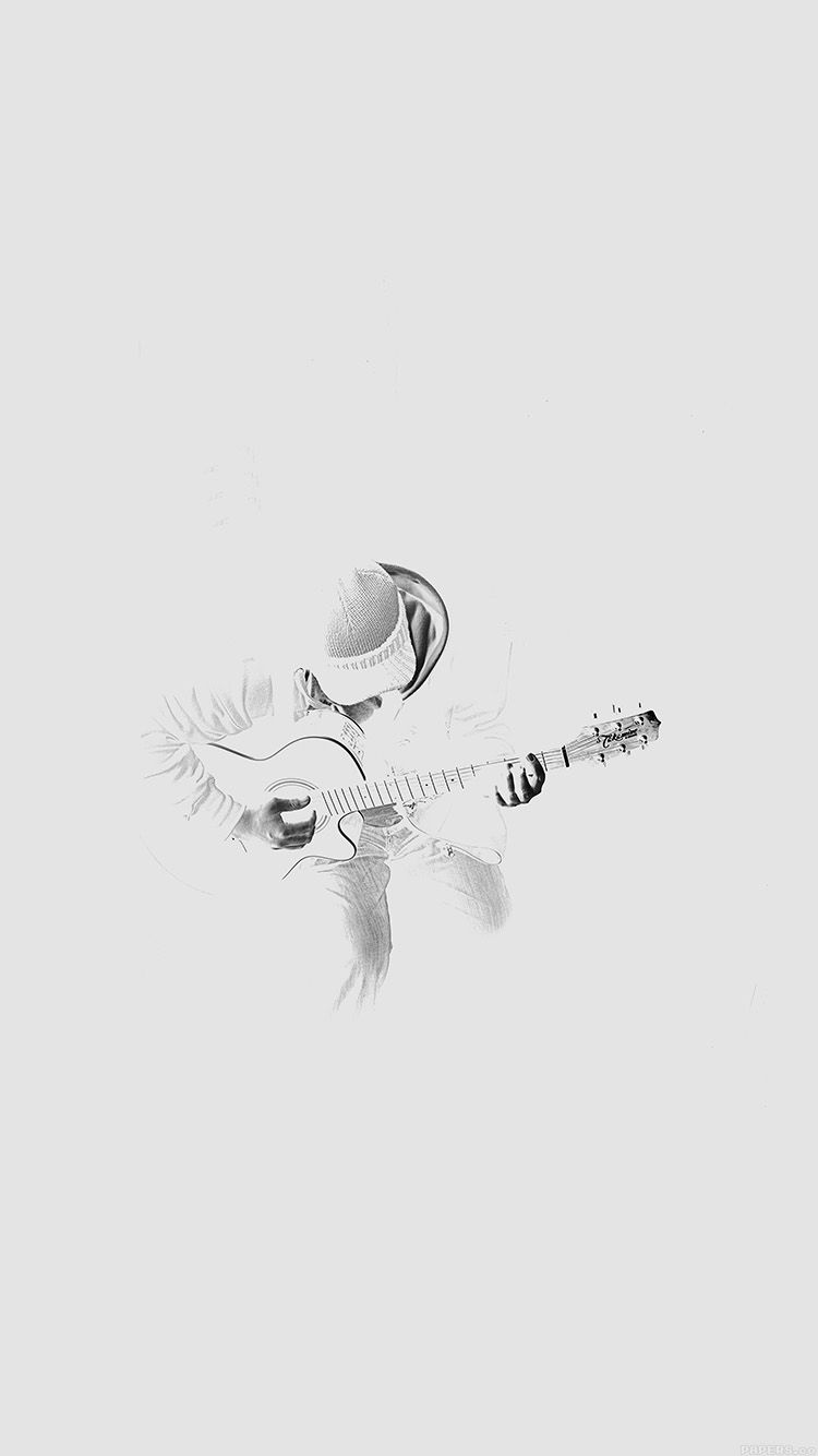 Out The Dark Guitar Player Music White Wallpaper Hd Iphone Iphone Wallpaper White Wallpaper For Iphone Music Wallpaper