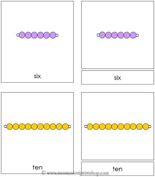 Montessori Bead Nomenclature Cards Montessori Lessons Montessori Color Montessori Math Free montessori golden beads worksheets