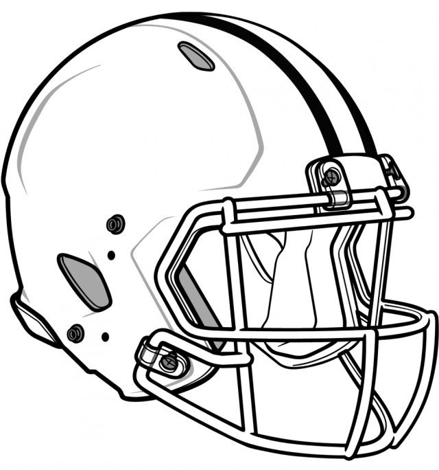 Football Helmet Drawing Template Crafts Football Helmets