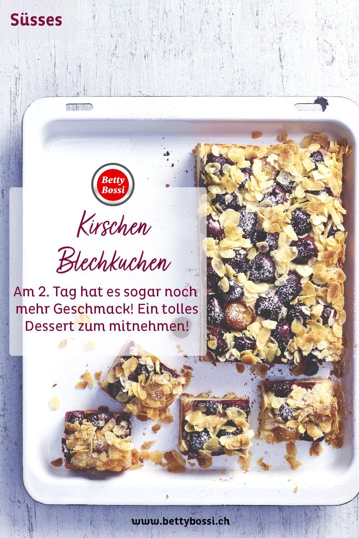 Kirschen Blechkuchen Rezept In 2020 Blechkuchen Kuchen Desserts Zum Mitnehmen