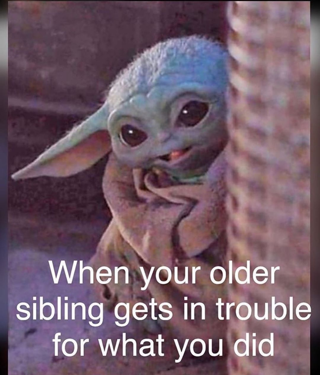 Your Daily Dose Of Baby Yoda On Instagram Tag Them For More Follow Memesbybabyyoda Starwarsfans Funny Baby Quotes Funny Memes Me Too Meme