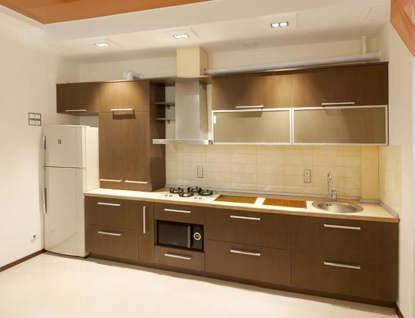 مطابخ الوميتال بنى فى بيج الغامقة والبني المحروق عصرية عرب ديكور Kitchen Designs Layout Kitchen Design Lighted Bathroom Mirror
