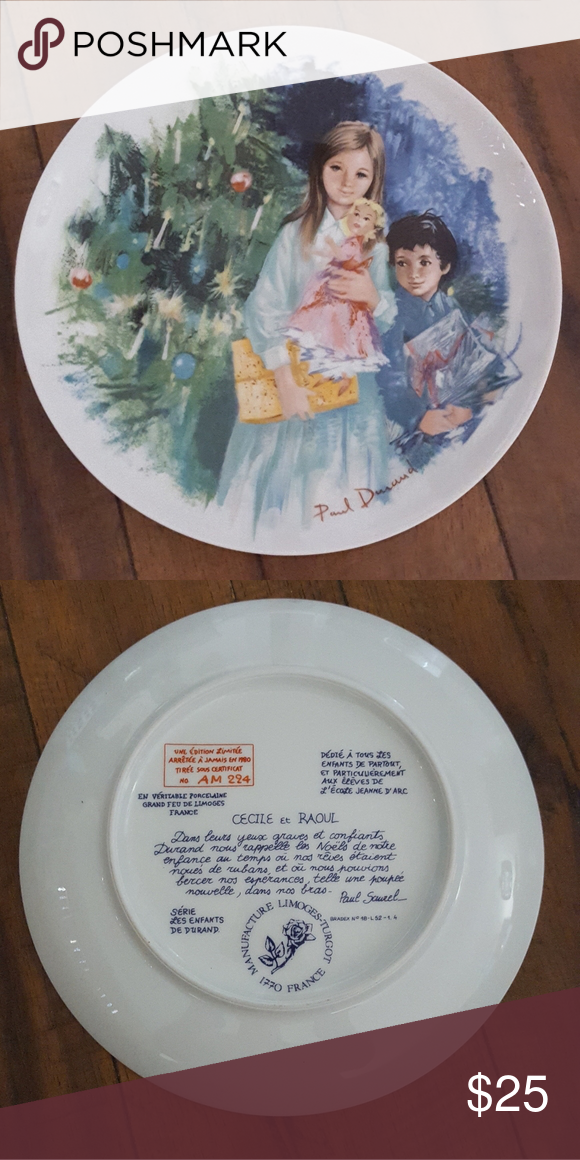 Limoges Cecile & Raoul Collector Plate In 2020