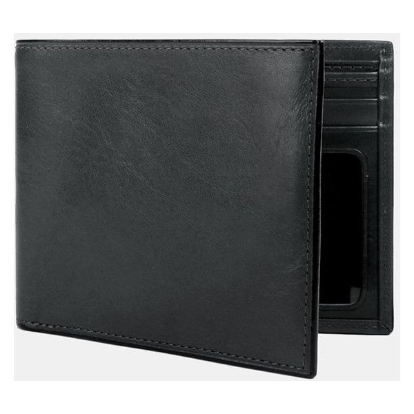 Bosca Leather Bifold Wallet (11930 RSD) ❤ liked on Polyvore featuring men's fashion, men's bags, men's wallets and black