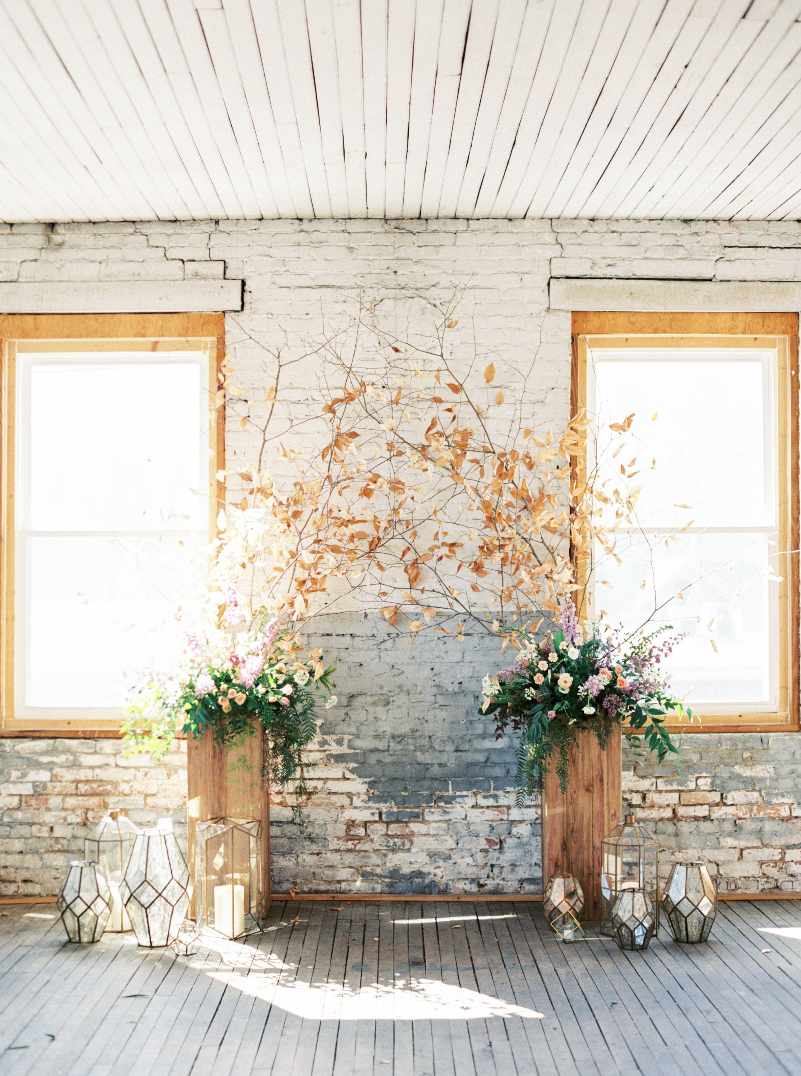 Candle holders! 32 Fall Wedding Décor Ideas We\'re Obsessed With ...
