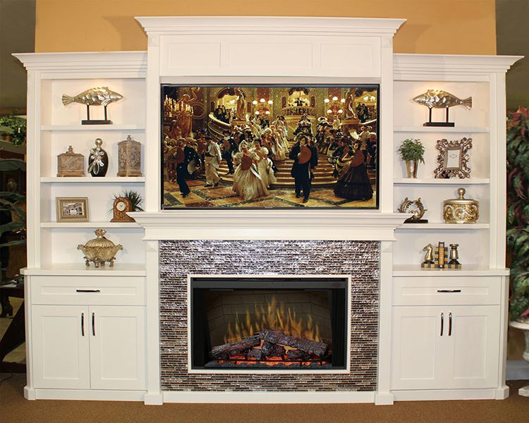 Built In Entertainment Center With Electric Fireplace Furniture B
