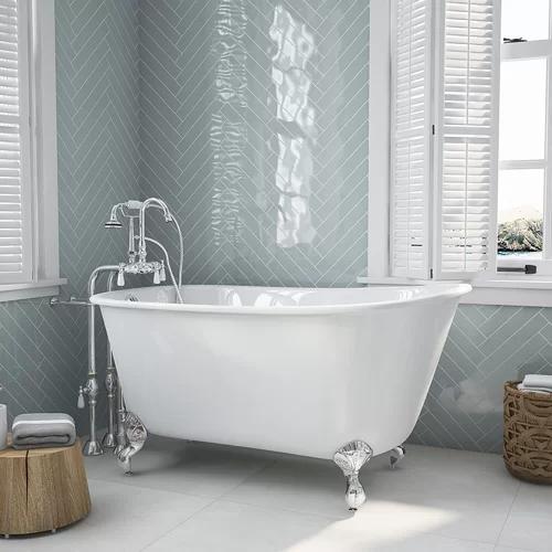 54 X 29 Clawfoot Bathtub Clawfoot Bathtub Soaking Bathtubs Free Standing Bath Tub