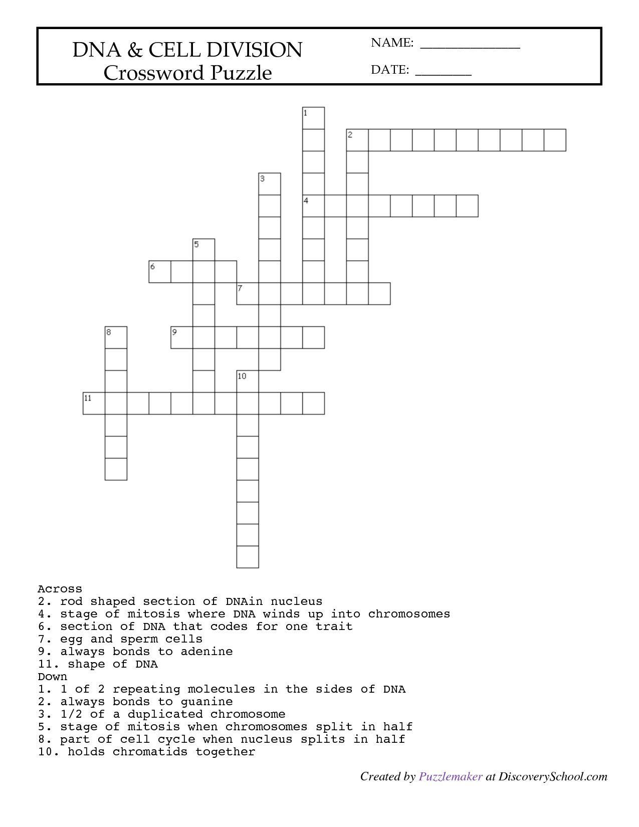 Lab Equipment Worksheet Crossword