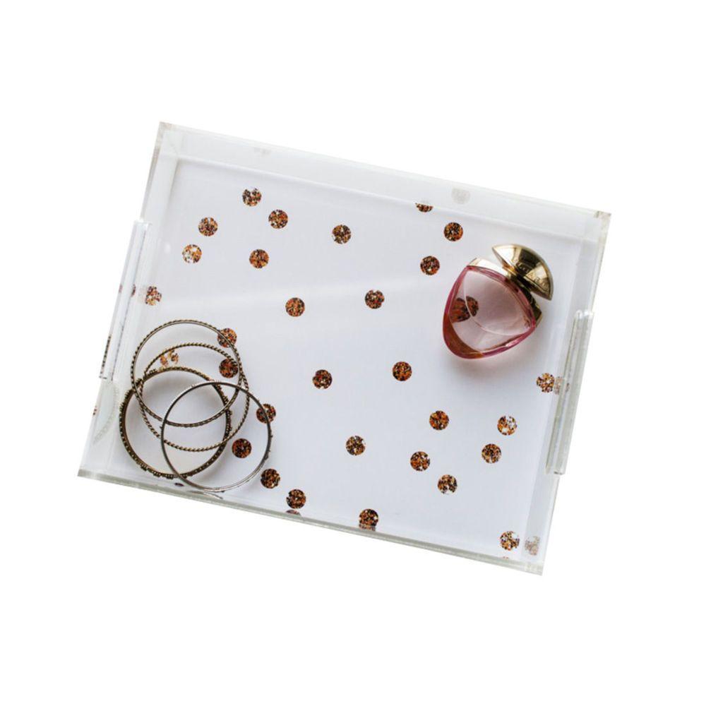Acrylic Decorative Tray Gold Dots Acrylic Tray  Gold Dots Trays And Acrylics