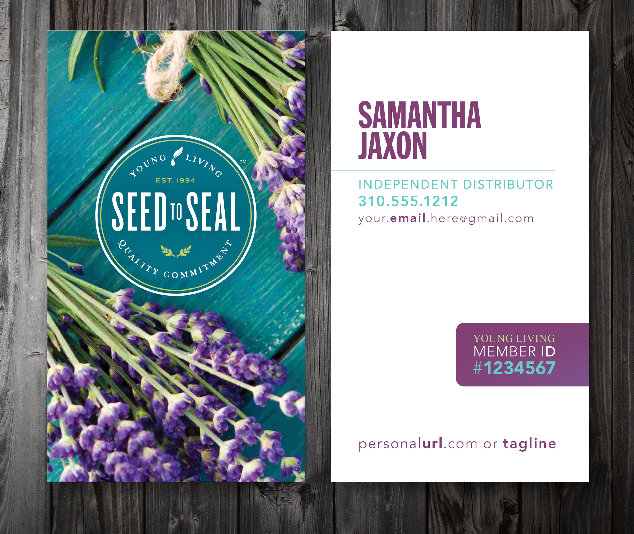 Custom Young Living Business Cards Five Designs Two Sizes