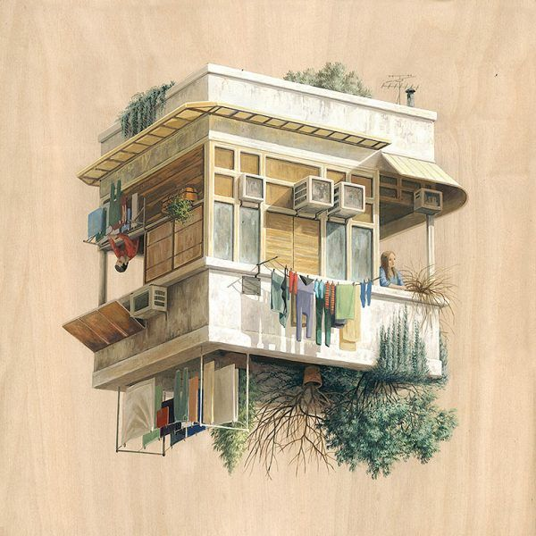 Merveilleux Surreal Architectural Illustrations By Cinta Vidal Agulló