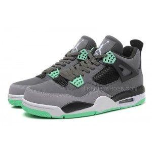 7ee52c7e32bf Air Jordan 4 (IV) Retro Dark Grey Green Glow-Cement Grey-Black in ...