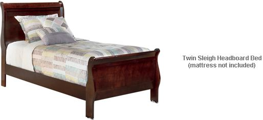 Ashley Alisdair Twin Sleigh Headboard Bed With A Warm Inviting
