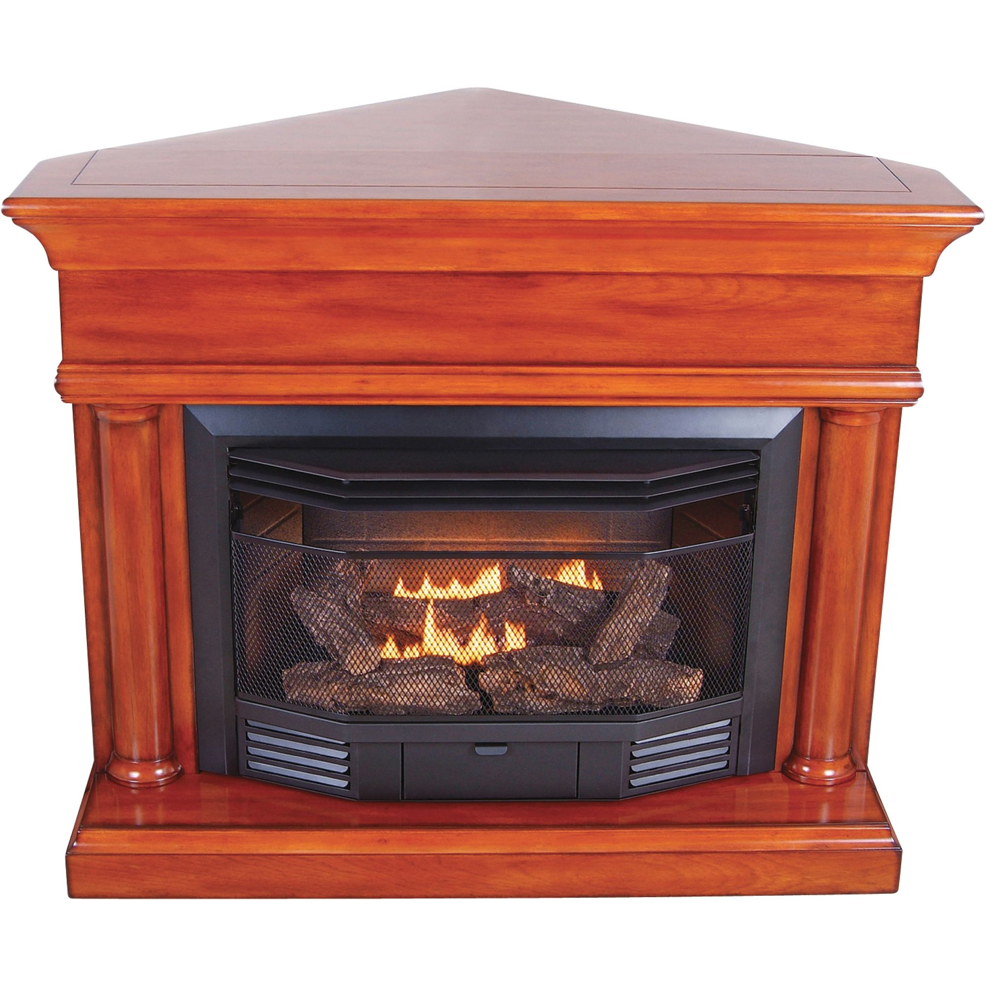 Procom dual fuel vent free fireplace with corner conversion kit procom dual fuel vent free fireplace with corner conversion kit 23000 btu heritage teraionfo