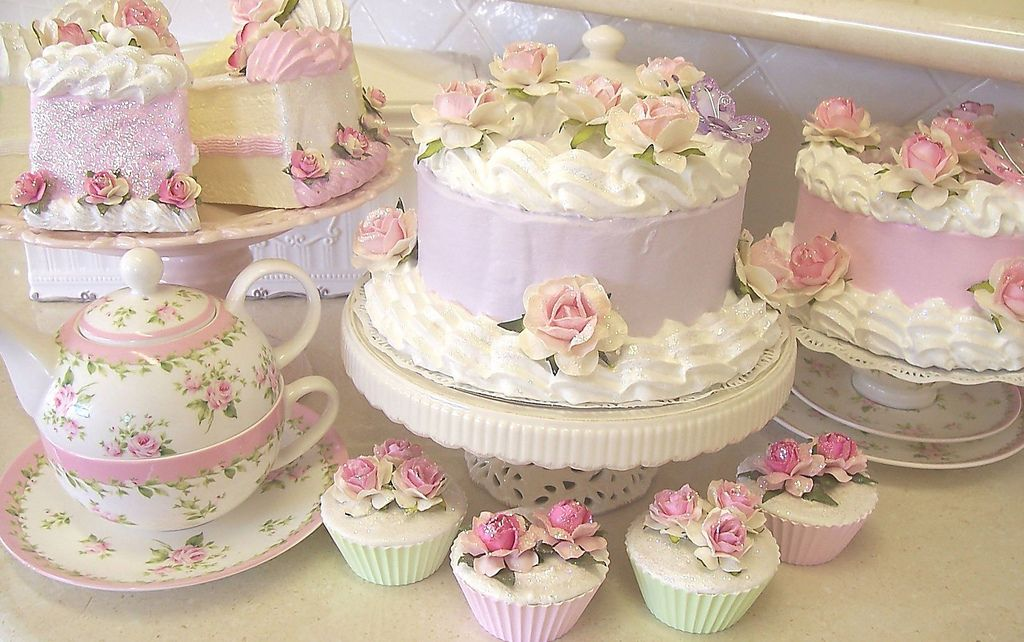 Lavender Shabby Chic Faux Fake Display Cake With Images Baby