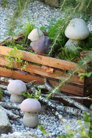 steinpilze betonschwammerl diy pilze aus beton anleitung beton pinterest. Black Bedroom Furniture Sets. Home Design Ideas
