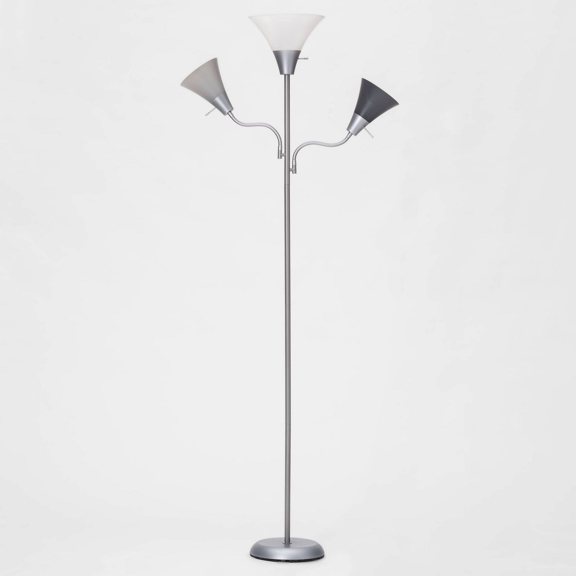 Mother Twins Floor Lamp Includes Energy Efficient Light Bulb Room Essentials Multi Colored Silver Floor Lamp Floor Lamp Energy Efficient Light Bulbs