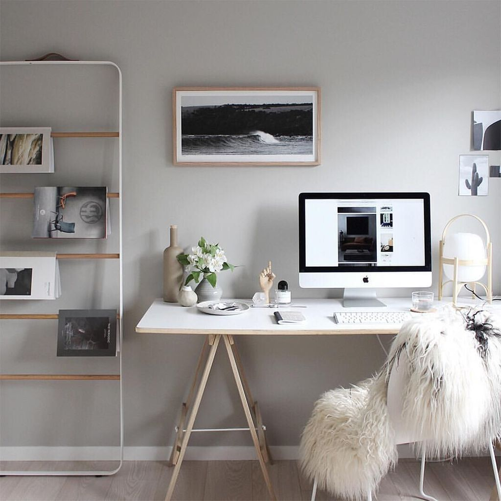 46 Great Home Office Design Ideas With Scandinavian Style Trendehouse In 2020 Home Office Design Home Office Decor Home