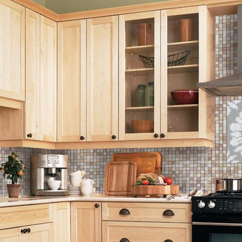 Light maple cabinets-- countertop/backsplash colour ideas ... on Light Maple Cabinets With White Countertops  id=60158