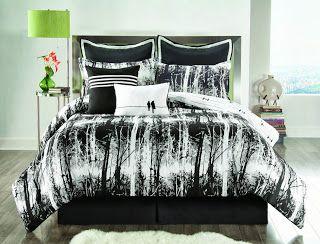 black white bedding accent color - Black And White Comforter