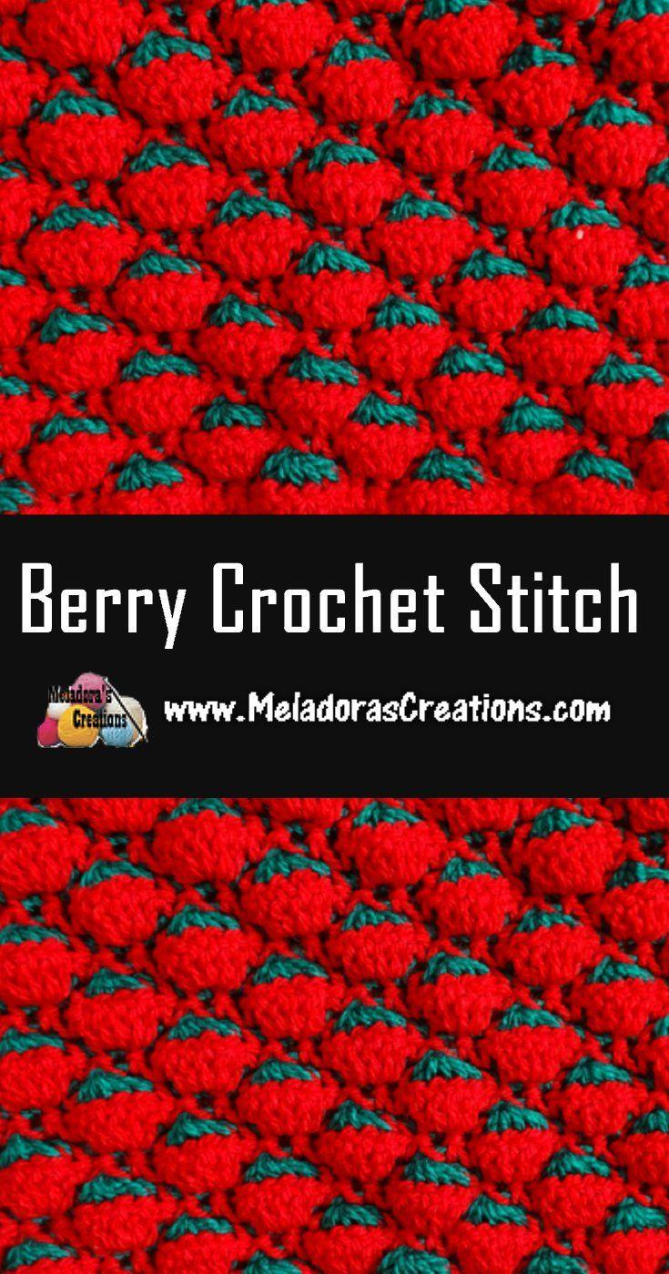 Berry Crochet Stitch - Free Crochet Pattern and Tutorial | lær at ...