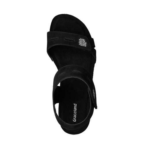 vanHaren Graceland Sandaletten schwarz, #Graceland