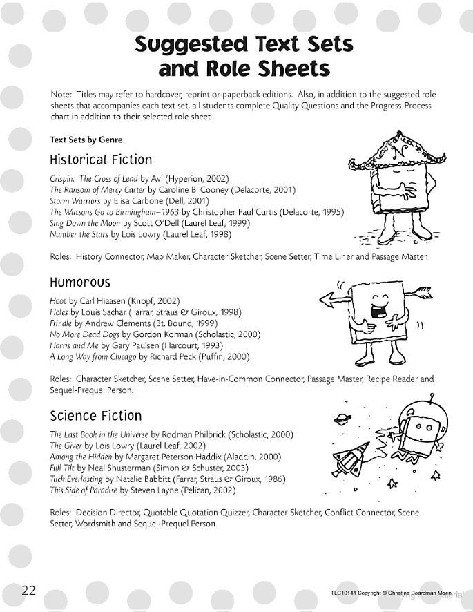 Literature Circle Role Sheets Literature Circles Literature Circle Roles Teaching Literature