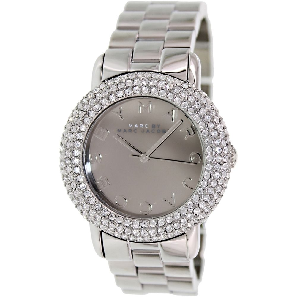 Marc By Jacobs Womens Marci Mbm3190 Stainless Steel Analog Fossil Idealist Silver Es4194 Free