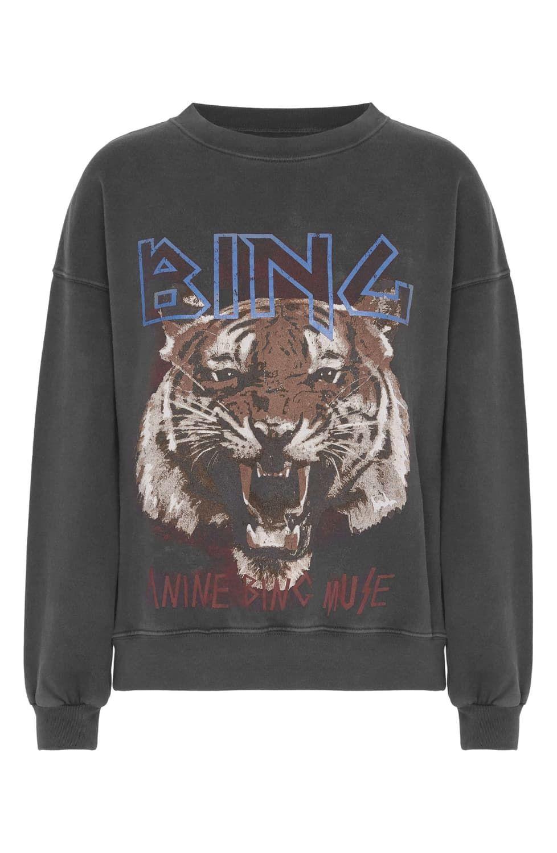 Anine Bing Tiger Sweatshirt Nordstrom Tiger Sweatshirt Sweatshirts Black Sweatshirts [ 1500 x 978 Pixel ]