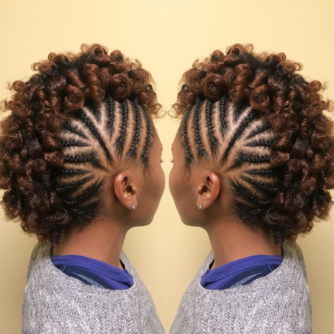 Great Frohawk Style Naturalhairmag Naturalhair Transitioning Hairstyles Braided Hairstyles Natural Hair Styles