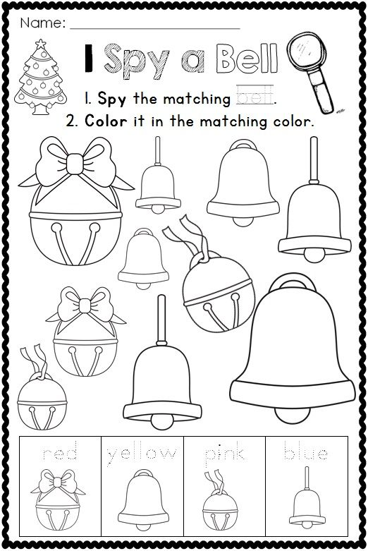 Christmas Coloring Pages I Spy Christmas Coloring Pages Educational Crafts Christmas Activities