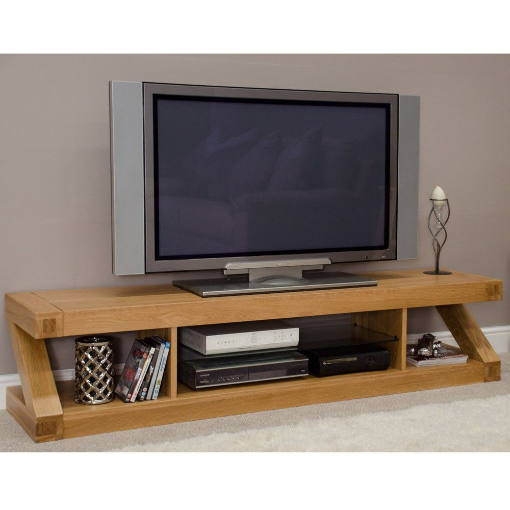 zee solid oak flat screen tv stand – ideal home show shop  my  - zee solid oak flat screen tv stand – ideal home show shop
