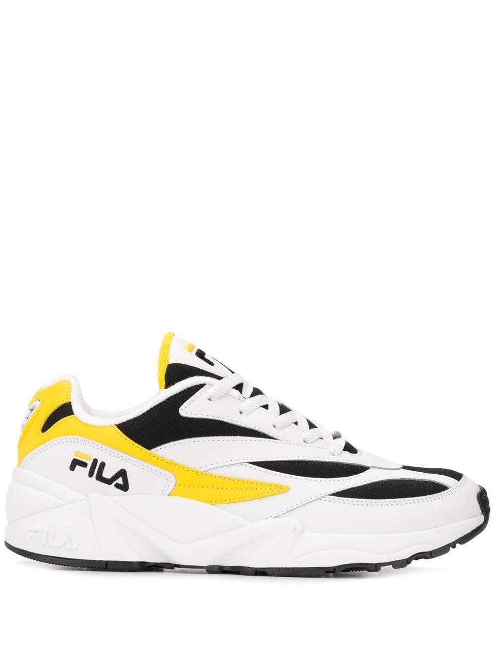 FILA FILA PANELLED SNEAKERS WHITE. #fila #shoes | Sneakers