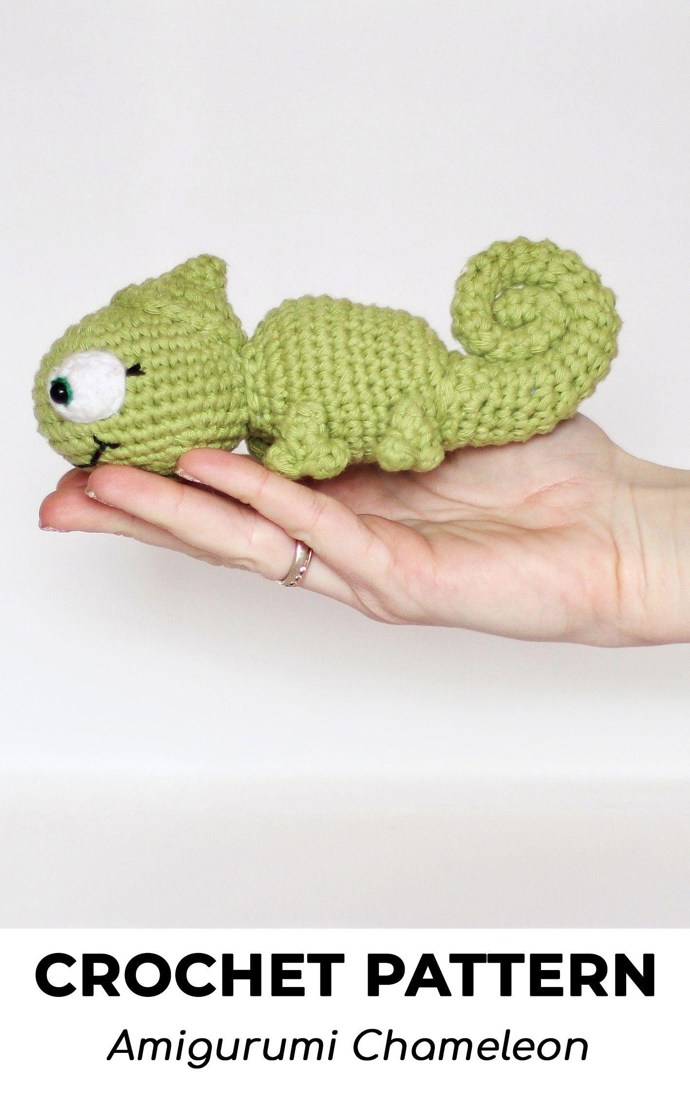 15 Super Cute Crochet Chameleon Amigurumi Patterns - Crochet News | 2268x1417