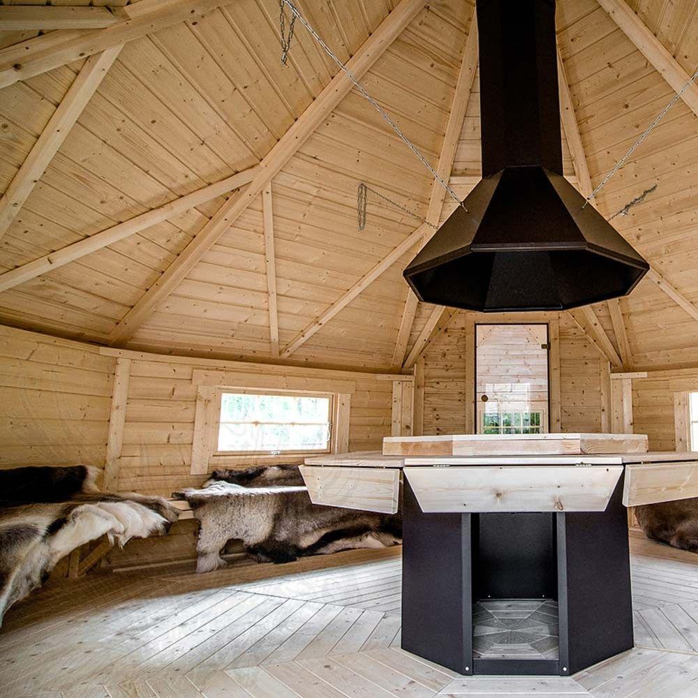 nordic spa - grillkota 16,5 m² mit angebauter sauna - ihr