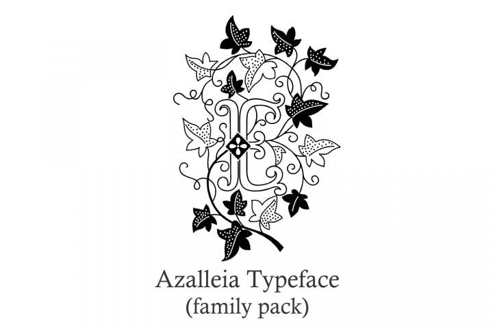 Download Azalleia Typeface Family Pack