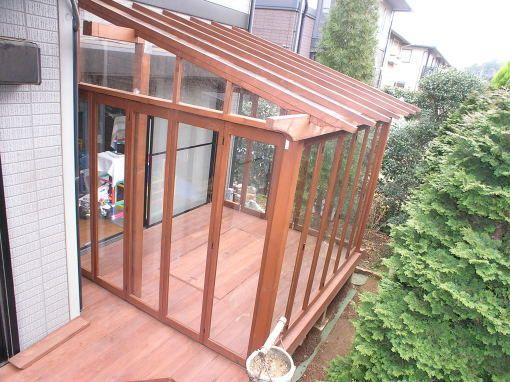 サンルーム・ウッドデッキをdiyする人のためのまとめ インテリア Pinterest Roof Beam