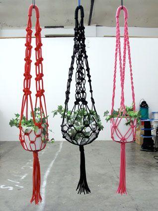 Middelste Macrame hanger