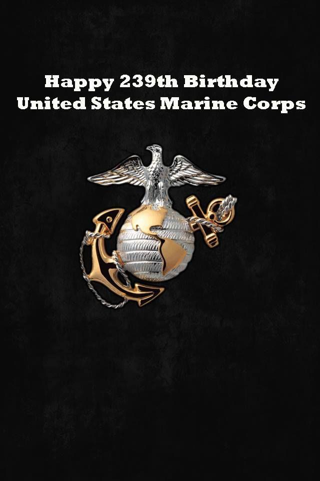 Happy Birthday Marine Corps Usmc Wallpaper Marine Corps Military Wallpaper