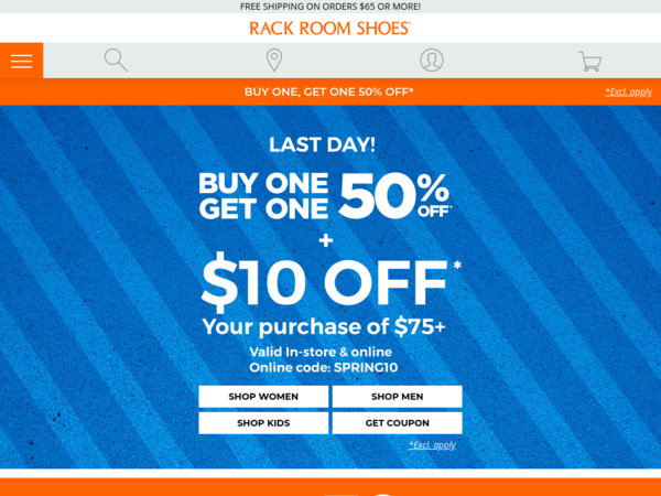 Rack Room Shoes Coupon Codes Buy One Get The 2nd Pair 50 Off Rack Room Shoes Coupons And Deals For September 2020 Rack Room Shoes Shoes Coupon Discount Codes Coupon